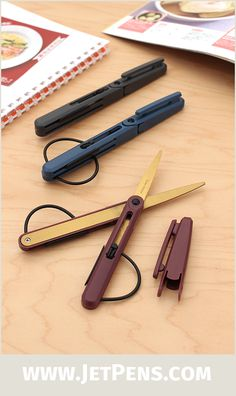 Raymay Pencut Titanium-Coated Scissors are durable, pocket-sized, and adaptable to either right or left-handed use.