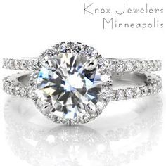 cushion cut halo engagement rings - Google Search