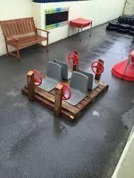 small parts storage playground ideas Outdoor Learning Spaces, Kids Outdoor Play, Outdoor Play Areas, Kids Play Area, Outdoor Fun, Outdoor Games, Preschool Playground, Backyard Playground, Playground Ideas