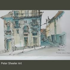 Urbansketch Painted on location in Porto Portugal. Uni-ball pen, Flat…