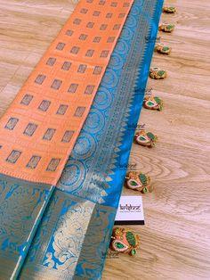 Saree Tassels Designs, Saree Kuchu Designs, Wedding Saree Blouse Designs, Pattu Saree Blouse Designs, Fancy Blouse Designs, Kanjivaram Sarees Silk, Indian Silk Sarees, Wedding Silk Saree, Saree Trends
