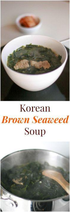 Korean Brown Seaweed Soup | MyKoreanKitchen.com