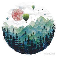 Roundscape by Fil Gouvea white, tshirt, L, front, $23.34