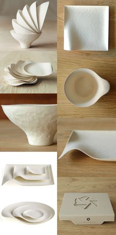 reed + bamboo+ bagasse pulp = beautiful disposable tableware = Wasara Get your own  pulp at www.purelypulp.com