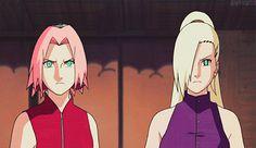 Ino and Sakura punch dyo. Naruto Shippuden  gif