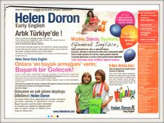 Helen Doron English Educational franchise in Turkey. Helen Doron, Adolescence, Success, English, Education, Learning, Brain, Turkey, The Brain