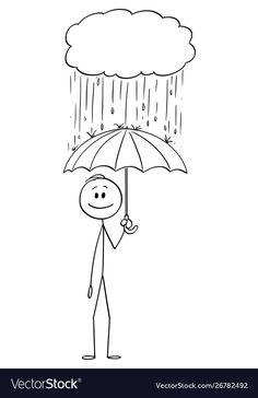 Cartoon man or businessman standing safe with vector image on VectorStock Stick Figure Animation, Stick Figure Drawing, Stick Men Drawings, Easy Drawings, Yoga Stick Figures, Doodle Drawings, Cartoon Drawings, Stick Figure Family, Cloud Drawing