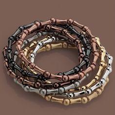 Set of 7 Multiplicity #stretch #mixedmetals #liasophia #bracelets #gold #silver #copper #hematite