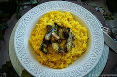 Veganer Safranrisotto mit Thymian-Artischocken Superfood, Rice Pasta, Quinoa, Grains, Low Carb, Ethnic Recipes, Vegan Recipes For Kids, Vegan Main Dishes, Vegan Meals