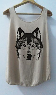 The Wolf sketch Shirt Animal shirt Women Shirt Tank Top Women T-Shirt Singlet Tunic Size S,M,L on Etsy, $15.00