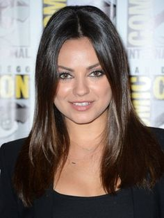 Mila Kunis's Two-Tone Espresso - Fall 2012 Hair Color: The Best Brown, Blond, Red, Black and Ombre Shades - Fall Hair Trends 2012 - Hair - InStyle Sleek Hairstyles, Celebrity Hairstyles, Mila Kunis Pics, The Brunette, Fall Hair, Ombre Hair, Hair Trends, Celebrity Style, Beauty Hacks