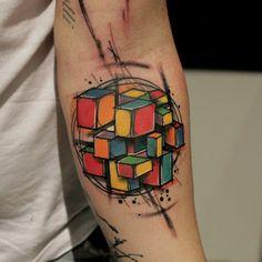 Rubik's Cube Tattoo - Buscar con Google