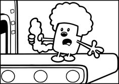 cool Wow Wow Wubbzy Coloring Pages