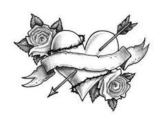 Tattoo You Want from Printable Tattoo Designs : Free Tattoo Stencils Rose Heart Tattoo, Tribal Heart Tattoos, Sacred Heart Tattoos, Free Tattoo Designs, Heart Tattoo Designs, Tattoo Designs For Girls, Vine Tattoos, Star Tattoos, Tatoos