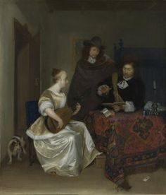 Gerard ter Borch/A Woman playing a Lute to Two Men about 1667-8