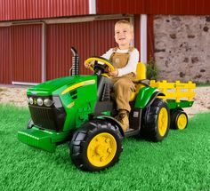 #Ruralkingcontest #lodgecamping  Peg Perego John Deere 12 volt Tractor with Trailer Ground Force #IGOR0039 by Peg Perego  for $299.99 in Battery Powered - Ride-on Toys - Toys : Rural King