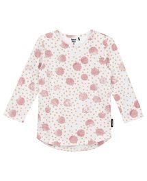 Dit witte Sweet dreumes meisjes T-shirt Lisanne heeft een leuke grafische pri...