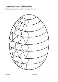 Kindergarten-KigaPortal-Osterei-addition and painting.svg: - Kindergarten-KigaPortal-Osterei-addition and painting. Easter Art, Easter Crafts For Kids, Easter Eggs, Easter Activities, Spring Activities, Activities For Kids, Kindergarten Portfolio, Preschool Worksheets, Kids Learning