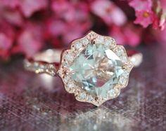 14k Rose Gold Vintage Floral Morganite Engagement by LaMoreDesign