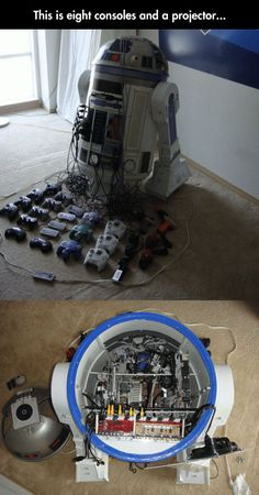The Beautiful R2D2 Universal Console (Maybe switch out the Dreamcast for Wii? But that's really cool!)