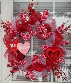 BE MINE - XL Chic Valentine's Day Wreath Decoration. $119.95, via Etsy.