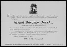 bárczai Bárczay Oszkár  (1846 - Budapest, 1898. április 12.)    Az egyik legjelentősebb magyar heraldikus. A Tudományos Akadémia főtitkári segédje, császári és királyi kamarás. Élénk részt vett a tudományos társulatok működésében és választmányi tagja volt a történelmi, valamint a heraldikai és a genealógiai társulatnak. Heraldikai és genealógiai témában írott cikkei a Turulban és az Archeologiai Értesítőben jelentetett meg. Legjelentősebb műve Aheraldika kézikönyve, melyet máig nem múltak… Ecards, E Cards