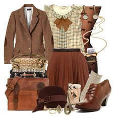 A fashion look from February 2017 featuring Misch Masch, brown leather mini skirt and leg avenue pantyhose. Browse and shop related looks. Retro Fashion, Vintage Fashion, Womens Fashion, Style Retro, My Style, Vintage Dresses, Vintage Outfits, Vintage Inspired Outfits, Look Vintage