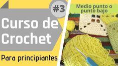 ⭐ Crochet para principiantes - Curso básico #3 - Medio punto o punto bajo. En este video podrás aprender a realizar el #MedioPunto o #PuntoBajo . Es un punto muy versátil, el cual podremos utilizar para infinidad de proyectos. Si te gustan los #Amigurumis, este punto es el que más vas a necesitar tejer. #SingleCrochet Crochet Hats, Youtube, Goal, Slipknot, Beginner Crochet, Knit Bag, Knits, Knitting Hats, Youtubers