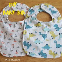 Keeping it Real: DIY large towel backed baby bib – with pattern