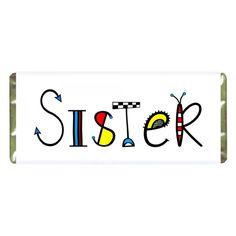 Personalised+Funniest+Sister+Chocolate via @giftcart Raksha Bandhan Gifts, Rakhi Gifts, Online Gifts, Chocolates, Diy And Crafts, Sisters, Chocolate, Brown