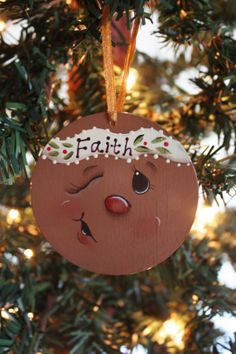 Items similar to Gingerbread Face Ornament on Etsy Gingerbread Man Crafts, Gingerbread Ornaments, Gingerbread Decorations, Painted Christmas Ornaments, Hand Painted Ornaments, Snowman Crafts, Christmas Gingerbread, Noel Christmas, Christmas Decorations