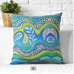 Southeast Asian style geometric pillow flower linen cushion for home decoration