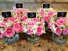 Centerpieces for baby or bridal shower
