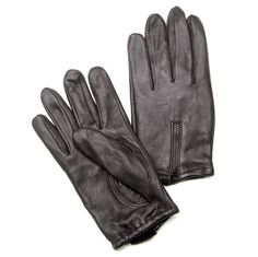 J Cycles® Lined Deerskin Gloves with Zipper Back