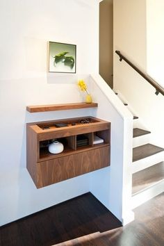c27924672bd Kinda  cool. A custom contemporary item organizer floating console in the  Moraga Residence