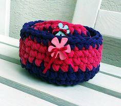 crotchet recy basket lurga / Bublibubli