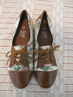 Floral Oxford shoes, my newest obsession...oxfords in every color and pattern
