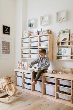 Playroom Must-Haves Playroom Design, Playroom Decor, Ikea Kids Playroom, Toddler Playroom, Toddler Rooms, Kids Play Rooms, Playroom Closet, Playroom Ideas, Trofast Ikea