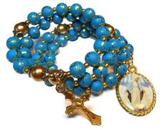Rosary bracelet Hail Mary Full of Grace five decades $45 - use coupon code PIN15 to save 15% now. Just CLICK pic!