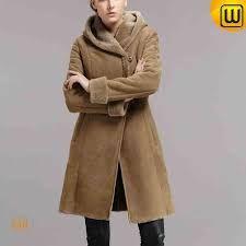 Knee Length Hooded Shearling Coat for Women womans shearling coat - Woman Coats Sherling Coat, Sheepskin Coat, Sheep Leather, Elegant Woman, Winter Wardrobe, Winter Coat, Coats For Women, Hoods, Fur Coat