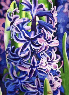 Hyacinth Painting - Hyacinth by Linda Hoover