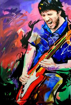 John Frusciante: Former Guitarist of the Red Hot Chili Peppers, by Richard Day  http://1-richard-day.artistwebsites.com