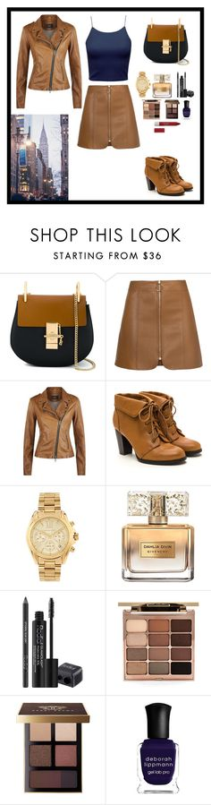 """""""Outfit 56/1000"""" by nagra-muskan ❤ liked on Polyvore featuring Chloé, SET, Michael Kors, Givenchy, Rodial, Stila, Bobbi Brown Cosmetics and Deborah Lippmann"""