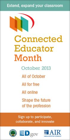 October is Connected Educator Month. Learn how to get started here. Instructional Technology, Educational Technology, Teacher Tools, Teacher Stuff, Project Collaboration, Connected Learning, Arts Integration, Professional Development, Need To Know