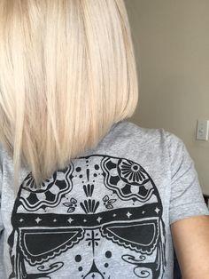 A-line bob, platinum blonde :)