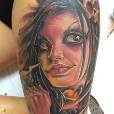 Pin Up Tattoos, Cool Tattoos, Body Mods, Pinup, Tattoo Artists, Tatting, Dark, School, Instagram Posts