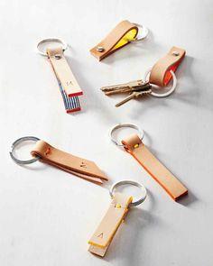 Leather-Strap Key Fob