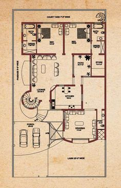 House Plans - Vastu for West Facing House Plan, , 2 Bedroom House Plans, Duplex House Plans, House Floor Plans, 10 Marla House Plan, Simple House Plans, Home Building Design, Home Design Plans, House Design, House Layout Plans
