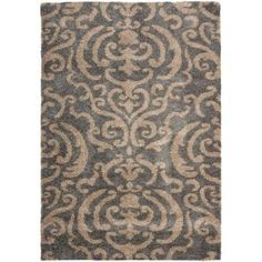 Safavieh Florida Shag Grey/Beige 8 ft. 6 in. x 12 ft. Area Rug-SG462-8013-9 - The Home Depot