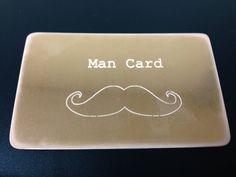 Wallet insert  MAN CARD  Copper Aluminum Brass by SnappinEngraving, $13.00